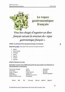 menu traditionnel français le repas gastronomique fran 231 ais
