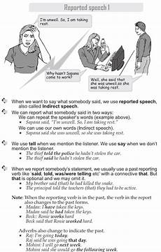punctuation worksheets with answers grade 9 20925 grade 9 grammar lesson 39 reported speech 1 1 reported speech grammar lessons
