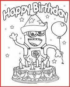minions malvorlage happy birthday coloring and malvorlagan
