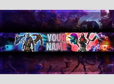 Free Fortnite Youtube Banner Template   Fortnite Channel