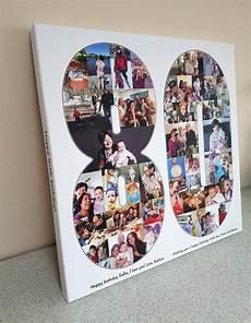 Basteln Mit Fotos - 80 70 60 18 21 30 40 50 geburtstag geschenk collage