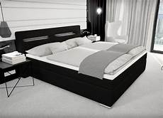 designer boxspring bett mit bettkasten led