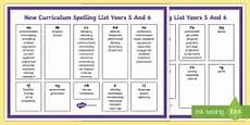 2014 national curriculum spelling list years 3 and 4
