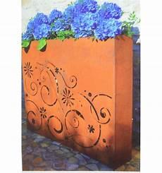 Raumteiler 120 Cm Breit - edelrost raumteiler fiori 120 cm mit pflanzboden