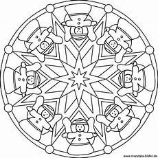 Mandala Malvorlagen Weihnachten Mandala Mit Weihnachtsengeln Und Sternen