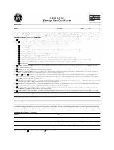 form st 12 download printable pdf exempt use certificate