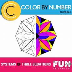 color by number systems of equations worksheet 16138 systems of three equations color by number freebie tpt