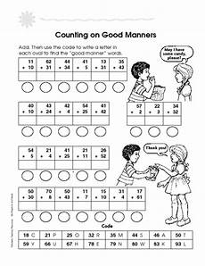 counting good manners worksheet for 2nd 4th grade lesson planet