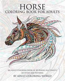 horse coloring book for adults adult coloring world