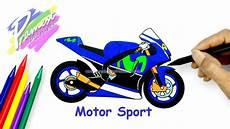 gambar montor minti 2017 motor sport cara menggambar dan mewarnai gambar sepeda