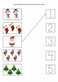 cute little christmas counting matching and tracing worksheet worksheets matematica natale