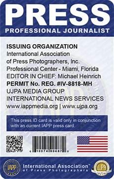journalist id card template der iapp redaktionsausweis