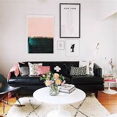 Home Decor Ideas With Black Sofa by The Balance Of Black White And Pink Home