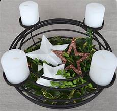 Adventskranz 248 40 Cm Aus Metall Mit Kerzen Kerzenst 228 Nder