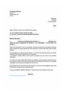 lettre de résiliation contrat d assurance assurance auto direct assurance resiliation contrat auto adresse