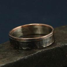 14k white and rose gold ring the centurion bicolor band