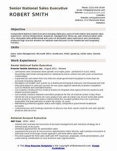 resume model for sales executive national sales executive resume sles qwikresume