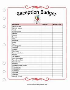 reception budget