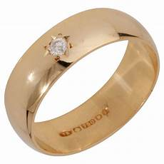pre owned 18ct yellow gold 6mm diamond wedding ring