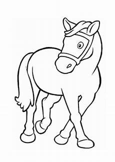 ausmalbilder niedliches pony pferde malvorlagen