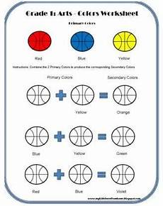secondary colors worksheets 12813 my learn from home