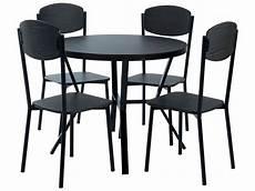 ensemble table 4 chaises cabestan coloris noir vente