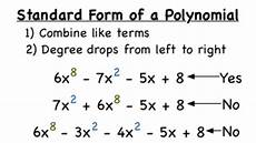 what s the standard form of a polynomial video for 6th 12th grade lesson planet