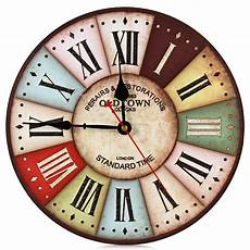 Retro Vintage Classic Disc Wall Clock by Retro Wall Clock Home Decoration Wall Clock With
