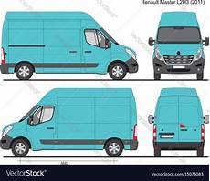 renault master l2h3 2011 royalty free vector image