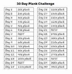 plank plan 30 days squat crunch and plank challenge