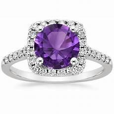 enchanting purple engagement rings brilliant earth