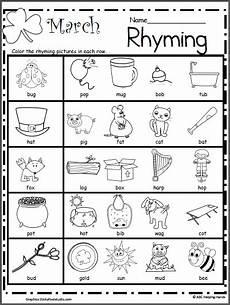 march rhyming worksheet rhyming worksheet kindergarten worksheets rhyming activities