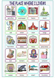 worksheets for places to live 15996 the place where i live picture dictionary 1 tarea de ingles