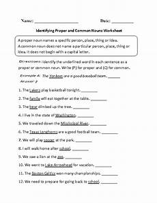 identifying proper and common nouns worksheet part 1 beginner nouns worksheet proper nouns