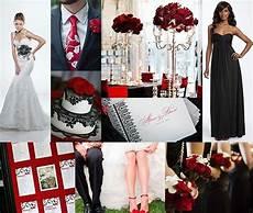 gss wedding inspiration board red black white