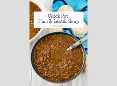 crock pot lentil   ham soup_image
