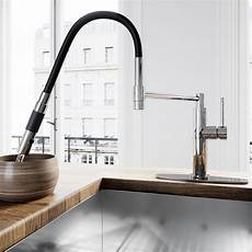 magnetic kitchen faucet vigo norwood magnetic spray kitchen faucet with deck plate