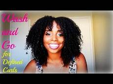 wash and go for defined curls natural hair youtube
