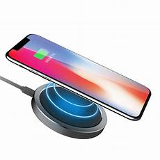 rock w4 2a qi wireless fast charging disk charger for
