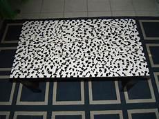 Table Mosaique En Noir Et Blanc Brillant Cultura