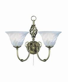 searchlight cameroon wall light antique brass marble glass pull cord