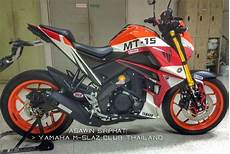 Modifikasi Mt 15 by Pertamax7 Modifikasi Yamaha Xabre Corak Repsol Mt15