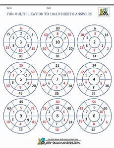 fun math worksheets multiplication fun multiplication worksheets to 10x10