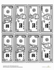 free printable paper money worksheets 15697 money coloring page worksheet education