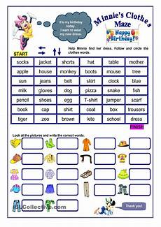grammar maze worksheets 24882 clothes maze clothes worksheet worksheets clothes words