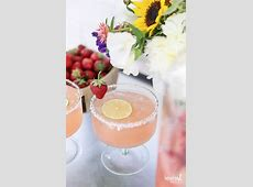 strawberry flower garnish