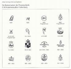 bavaria porzellanstempel katalog bodenmarken c m hutschenreuther hohenberg 1 d 233 cors