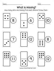 domino subtraction worksheets for kindergarten 10504 missing domino dots kindergarten printables numbers preschool