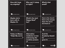 cards against humanity website game