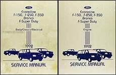 online car repair manuals free 1992 ford club wagon seat position control 1992 ford bronco f150 f350 super duty factory foldout wiring diagram original